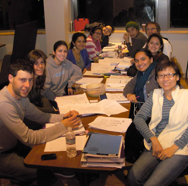 Study session of BCC interns at 2012 UCSF Stem Cell Training