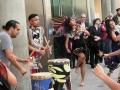 Azteca dancers in front of BCC