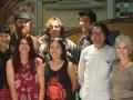 Mural instructors, Juana Alicia Araiza and Tirso Araiza with students