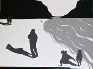 Anita Knowlton Cutout Drawing