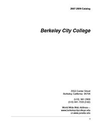 Berkeley City College Catalog 2007-2009
