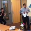 Roberto Gonzalez karaoke-ing from braille