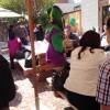 Joanna Louie in jester costume