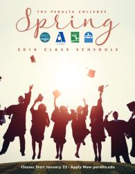 Peralta Spring 2018 Class Schedule, PDF