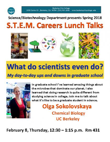 STEM Talk flyer