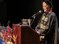 President Debbie Budd at podium