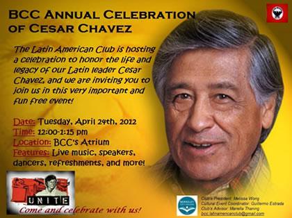 Cesar Chavez flyer image