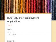 LRC Staff Application