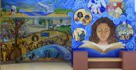 From the Ground Up/Desde Las Raíces, Berkeley City College Atrium Mural, BCC Public Art Program
