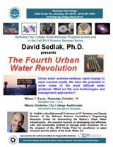 David Sedlak, Ph.D. presents The Fourth Urban Water Revolution