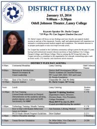 PCCD District Flex Day Agenda Wednesday January 15 2014