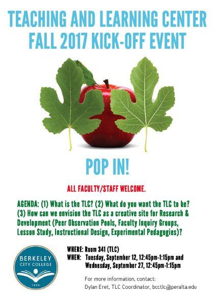 TLC Fall 2017 Kick-Off Event Flyer