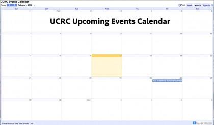 UCRC Events Calendar
